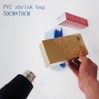50 * 70cm PVC 열 수축 가방 명확한 색상 열 수축 멤브레인 포장 가방 플라스틱 수축 주머니 명소 100 / 패키지