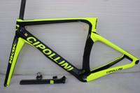 Fluo amarillo NK1K Frame Carbon Road Bike Frames 2017 Racing Bicycle Mark Fibra de carbono Marco de la bicicleta, Tenedor, Sillero, Auriculares, Pinza