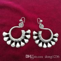 Guizhou Miao Xiang Dong Village orecchini fatti a mano in argento Miao