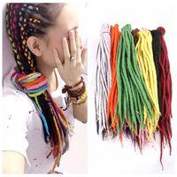 Синтетические косички вязания вязания крючком кручение волос непал шерстяная шерсть дреды синтетические плетеные наращивания волос 90см-120см 24 цветов популярных