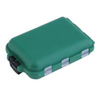 섬세한 육군 녹색 플라스틱 낚시 도구 상자 후크 구획 보관 케이스 야외 낚시 회전 루어 미끼 저장 도구