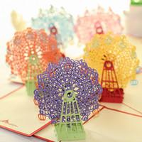 Creativo Papel hecho a mano 3D Pop Up Feliz Cumpleaños Tarjetas de felicitación para niños Suministros festivos para niños