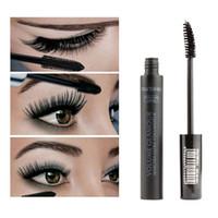 여성 블랙 3D 파이버 마스카라 Volome Curl 두꺼운 방수 속눈썹 Extension 브랜드 메이크업 Maquillage PL6