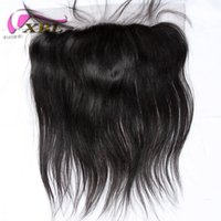 XBL Soie Straight Lace Frontal Cheveux humains Fermeture Free / Middle / Three Part Dentelle Frontal In Cordel Taille 13 * 4.5