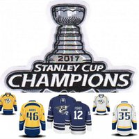 2017 Stanley Cup Champion Patch 12 Mike Fisher 18 James Neal...