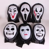 10 ПК Страшного призрака лицо Крик Cosplay Black Mask Маски Halloween Masquerade партия череп Horror Рождество Fun Праздничных игры Подарки