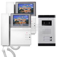 """DIYSECUR 4.3 """"Appartement Vidéo Portier Vidéo Interphone Système De Sonnette 700 TVLine IR Clé Tactile Pour 2 Familles"""