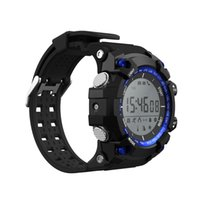 Stock américain No.1 F2 Smart Wrist Smart Watch Bluetooth Luminous Sports Altitude UV pour Android iOS Smartphone Livraison gratuite