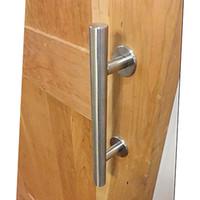 1 adet Fırçalanmış yüksek kalite paslanmaz çelik sürgülü ahır kapı kolu ahşap kapı kolu çekin kapı topuzu