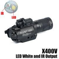 جديد SF X400V-IR المصباح التكتيكي بندقية ضوء LED الأبيض والأشعة تحت الحمراء الإخراج مع الليزر الأحمر الأسود
