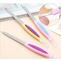 Wholesale- New 5pcs Double Sided Metal Nail File Polish Tool...