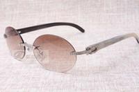 Lunettes de soleil Diamond confortables de luxe à la mode T8100903 Naturel Lunettes de soleil à angle mélangé naturel Les meilleures lunettes de qualité Taille: 58-18-140mm