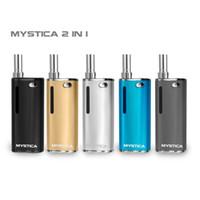 Аутентичные Mystica 2 в 1 Воск Vape Pen Mod Starter Kit батареи Pre Heat Перезаряжаемый 650mAh Private Label Испаритель высокого качества VS H10 S