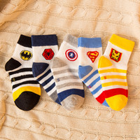 Children socks Cute Cartoon Hero Pattern Korean Spring Summe...