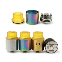 Радиатор V2 RDA Atomic Recoil 2.0 Испаритель 24 мм E сигареты с PEI Driptips Vape Atomizer Fit 510 Battery Mod