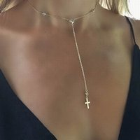 Personlized Cross pendant necklace Fashion Gold Plated Laria...