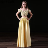 Daffodil Two Pieces Prom Dresses Short Sleeves 3D Sun Flower...