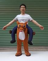 hochwertige fake legs pants esel reitet auf maskottchenkostüm