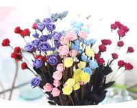 Düğün Dekorasyon Çiçek PE Sahte Gül 1 Buket 15 Kafaları Vintage Yapay PE Çiçek Gelin Düğün Buket
