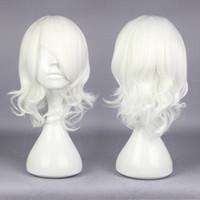 MCOSER Moda Cosplay Tokyo Ghoul Juuzou Suzuya 38 cm Kıvırcık Kısa Beyaz Sentetik Yüksek Qualiyu Parti Peruk