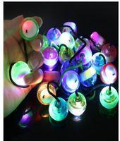 Mão Spinner LEVOU Dedo Knuckles Brinquedos Begleri Polegar Dedo Yoyo Chucks Controle Roll Brinquedos Luz Flash Crianças Adulto Brinquedos De Descompressão J276