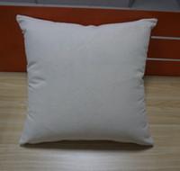 12 oz doğal tuval yastık kılıfı 18x18 düz ham pamuk nakış boş yastık örtüsü