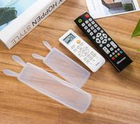투명 한 noctilucent 실리콘 TV 원격 제어 커버 공기 상태 컨트롤 케이스 방수 먼지 보호 저장 주최자