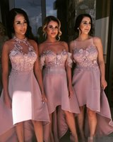 Mismatched Beach Country Wedding Bridesmaid Dresses Hi Low P...