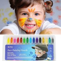 Baby Kids 16 Color Face Body Painting Crayon Kit Set Sticks ...
