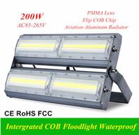 200W Yüksek Verimli COB Modülü Projektörler 100lm / Dış Aydınlatma için W AC110V / 220V / 240V Su geçirmez Sel Lambası