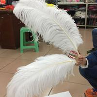 50-55cm Beyaz Devekuşu Tüy Devekuşu Tüy Plume Beyaz Düğün Centerpieces Masa Centrepiece Düğün Dekorasyon Devekuşu Tüy