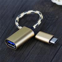 Otg USB-C tipi-c erkek USB 3.0 Macbook Chromebook Nexus için xiaomi usb kadın kablo adaptörü c otg kablo