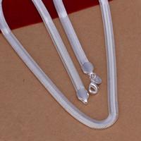 En Kaliteli 6 MM 16-24 inç Yumuşak Yılan Kemik Zincir Kolye Kaplama Gümüş Yılan Zincir Erkekler için Basit Stil Marka Moda Takı Zarif Kadın