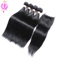 Top quality Straight Hair Weaves With Lace Closure Brazilian...