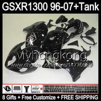 Glanz schwarz 8Gift Für SUZUKI Hayabusa GSXR1300 96 97 98 99 00 01 13MY106 GSXR 1300 GSX-R1300 GSX R1300 02 03 04 05 06 07 schwarz glänzend Verkleidung