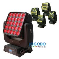 LED Matrix Moving Head High Beam Light 5x5 12W RGBW LED Matrix BLINDER NUMBER STREAM PRO DMX STEG CLUB DISCO Movinghead Belysningsarmaturer