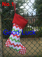 Wholesale- 200pcs lot free shipping Christmas stocking bags n...