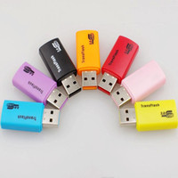 1000PCS / lot جودة عالية نوع جديد E USB ترانسفلاش MICRO SD TF بطاقة الذاكرة محول قارئ 1GB 2GB 4GB 8GB 16GB 32GB
