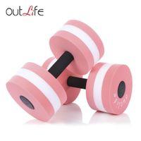 Outlife 2 قطع اللياقة البدنية بركة المياه الوزن التمارين الرياضية إيفا الدمبل meduim المائية الحديد البدنية أكوا التدريب ياقة + b