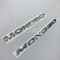 شعار سيارة لفورد مونديو 3D رسائل شعار شارة خلفي الجذع اسم غطاء لوحة فضية ملصق
