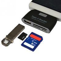 다기능 메모리 카드 어댑터 USB 3.1 유형 C USB-C TF SD OTG 카드 리더기 Macbook 전화 태블릿 리더기