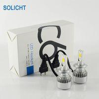72W 7600lm COB C6 auto LED Headlight Bulbs H1 H3 H4 H7 H8 880/881 H11 H13 9004 9005 9006 ALL IN ONE Automotive ha condotto la luce