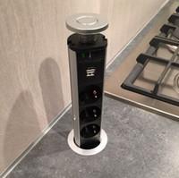 Tomate Usv Orvibo Plug Outlet Pop-up Pull Power Point Socket Encimera de escritorio de cocina, República Checa venta al por mayor / al por menor