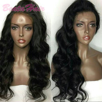 Bythair Wavy Glueless Peruvian Full Lace Human Hair Wigs Wit...