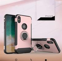 하이브리드 갑옷 케이스 iphone X 8에 대 한 삼성 갤럭시 참고 8 360 학위 스텐 트 자동차 전화 홀더 회전 자석 커버