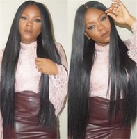 Silky straight Brazilian human hair wigs for women Virgin hu...