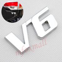 عالمي سيارة شاحنة أجزاء تريم v6 شعار شعار شارة 3d ملصق مائي كروم المعادن الخارجي التبعي تزيين