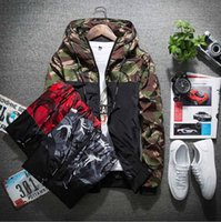 NEW ARRIVAL Mens Jackets Hooded Zipper Panelled Camouflage C...