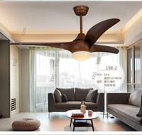 Столовая гостиная потолочный вентилятор минимализм современный пульт дистанционного управления American 52 дюйма вентилятора светодиодные лампы