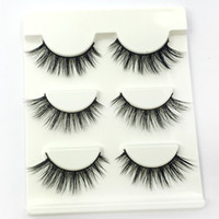 3D Mink hair eyelashes 3 Pair Pack Natural Long Soft Black 3...